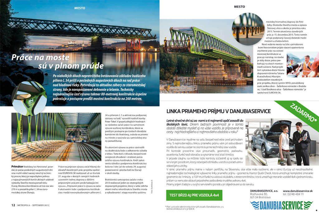 Metropola, Kultúrno-spoločenský magazín, ktorý prináša aktuálne informácie o dianí v Bratislave, DTP, dizajn