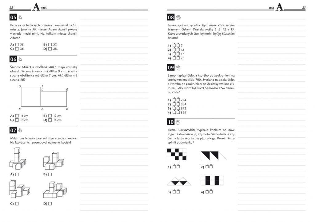 Príprava do primy, prijímacie pohovory do prímy Matematika, prac. zošit