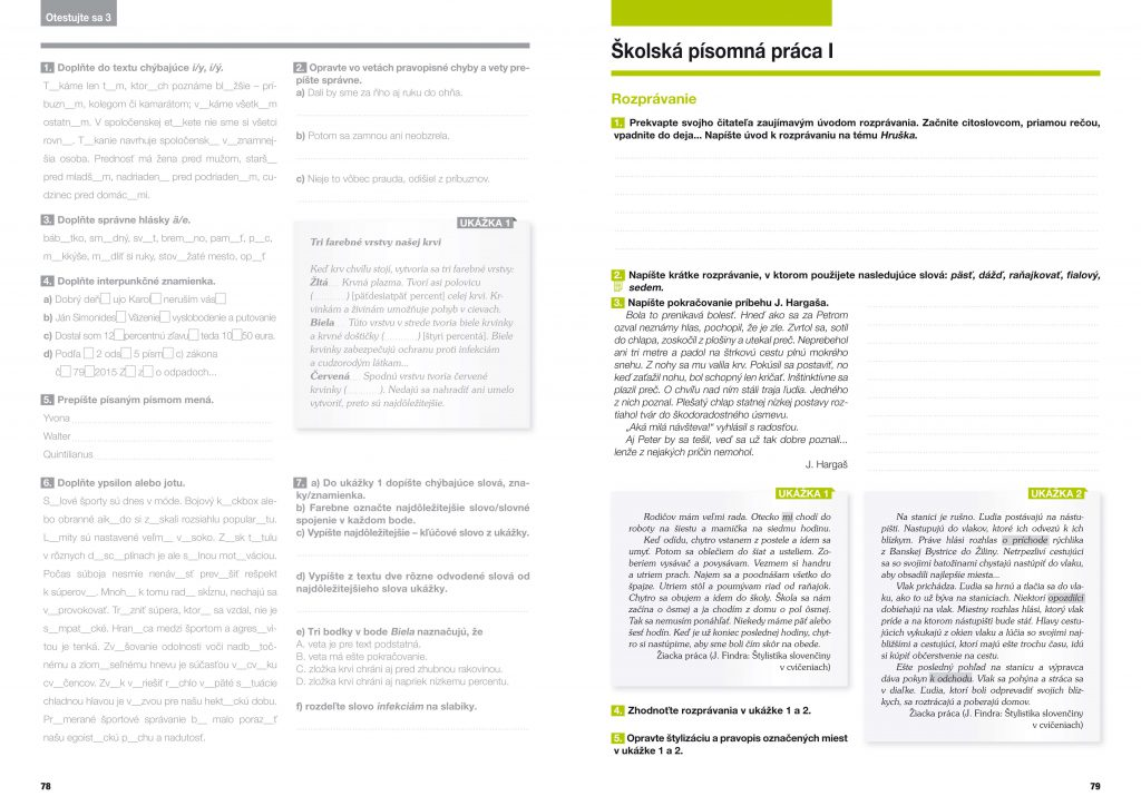 Slovenčina - pracovný zošit pre stredné školy 1. diel, grafický dizajn, príprava do tlače