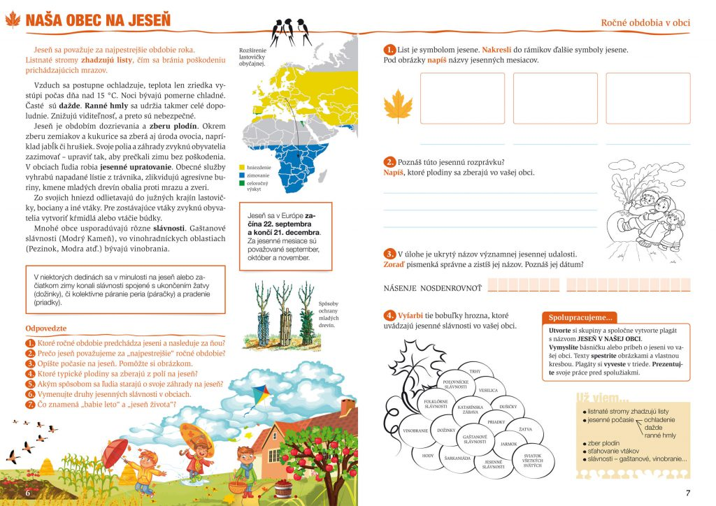 Vlastiveda pre základné školy grafický koncept učebnice, grafika a DTP