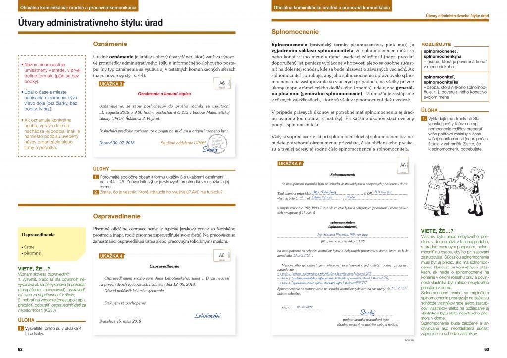 Slovenský jazyk učebnica 1, pre stredné školy, grafický dizajn, DTP, príprava do tlače
