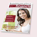 Komunálne financie magazín časopis, grafický dizajn, DTP, príprava do tlače