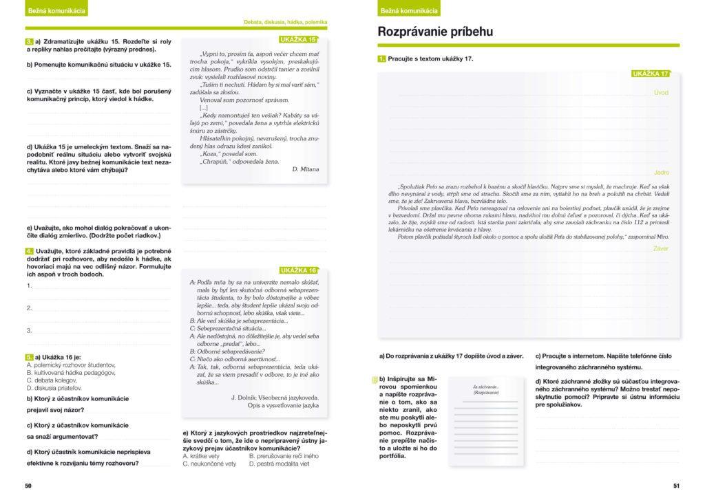 Slovenčina - pracovný zošit 2 pre stredné školy 2. diel, grafický dizajn, príprava do tlače