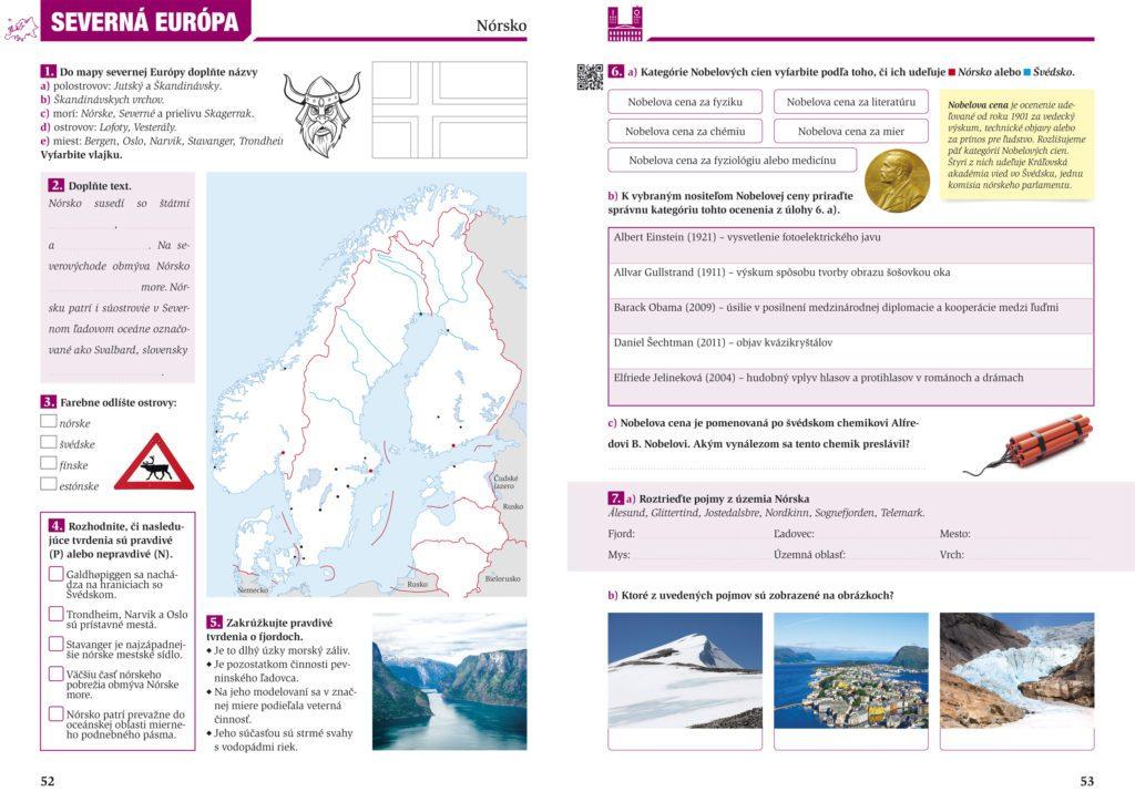 Geografia 7 pracovný zošit pre 2. stupeň ZŠ, Európa, grafický dizajn, DTP