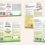 iDry etiketa leták, grafický dizajn, DTP, príprava do tlače