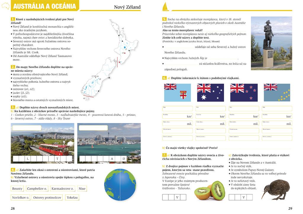 Geografia 9, pracovný zošit pre 2 stupeň ZŠ, grafický dizajn, DTP, príprava do tlače